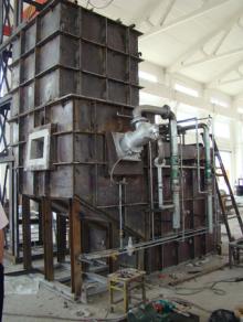 天然气连续集中熔化炉